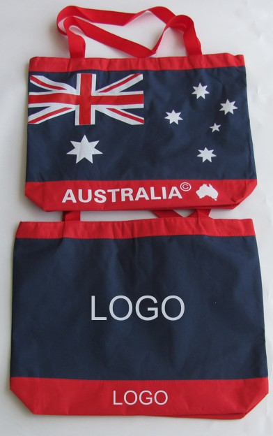 Personalized Australian flag tote bag