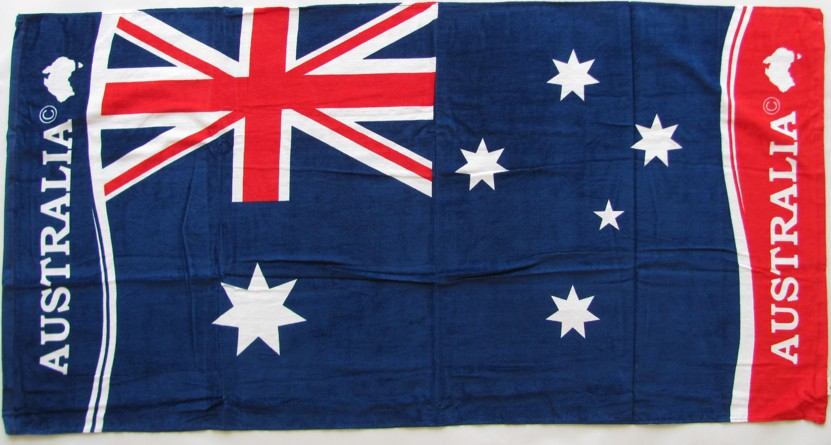 Australian National Flag large beach towel