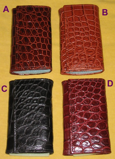 Crocodile leather key case available colors