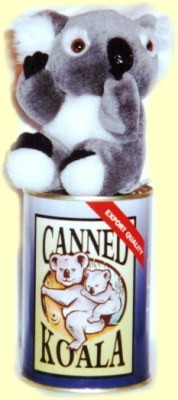 canned koala bear toy