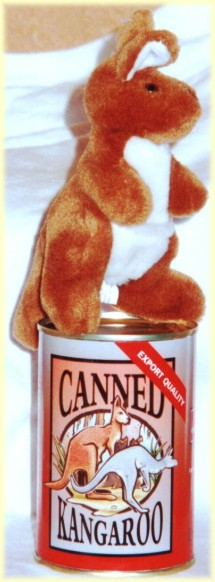 Cool gag gift - canned kangaroo toy