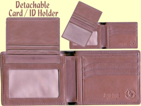 ostrich leather credit card wallet inner features