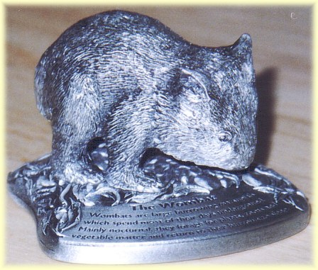 The wombat pewter figurine