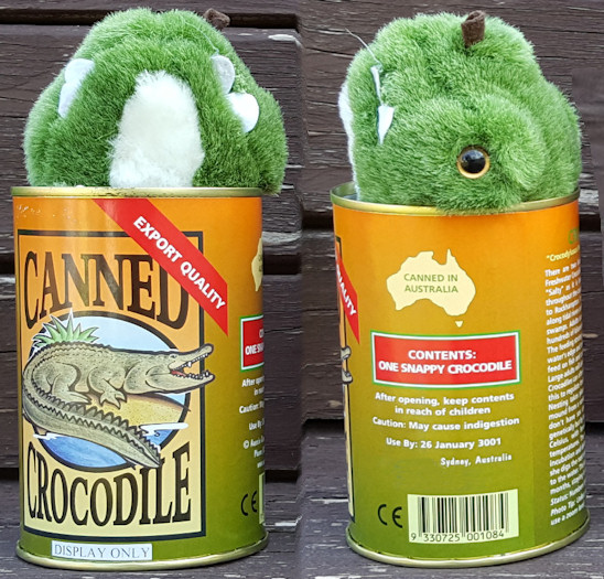 canned crocodile toy