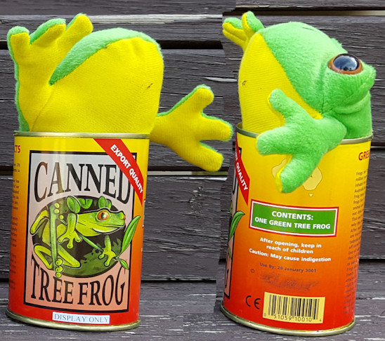 canned tree frog toy